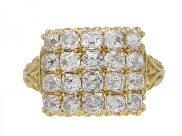 four row diamond ring berganza hatton garden