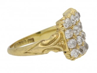 side view four row diamond ring berganza hatton garden
