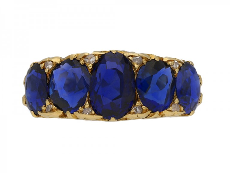 antique diamond sapphire ring hatton garden berganza
