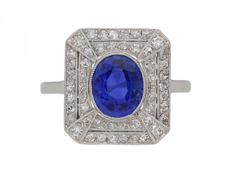 vintage kashmir sapphire ring berganza hatton garden