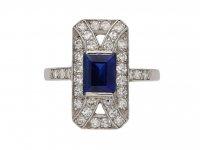 art deco sapphire diamond ring berganza hatton garden