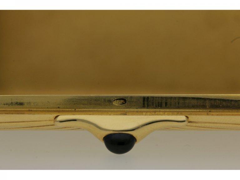 Fabergé gold case, Russian, circa 1900.