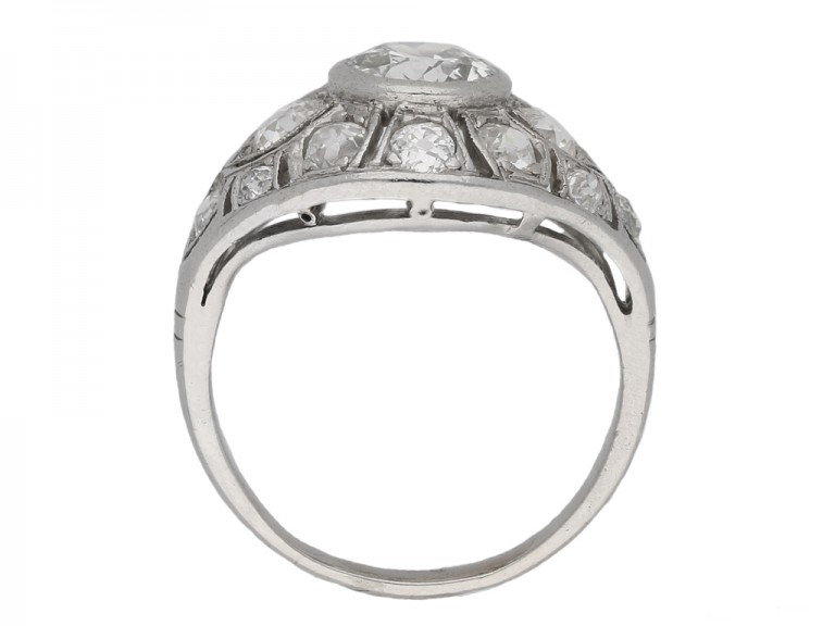 Diamond cluster ring, French berganza hatton garden