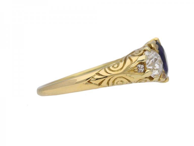 front antique diamond carved ring hatton garden berganza