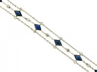 front view Sapphire and diamond bracelet, circa 1920.