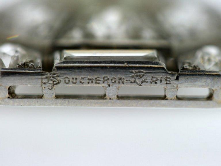 Boucheron Paris pearl and diamond brooch,