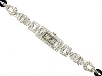front veiw Diamond set dress watch, circa 1935.