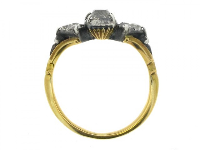 back view Georgian diamond ring, circa 1820.