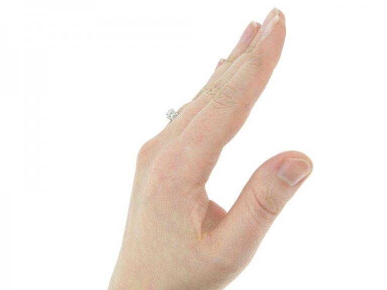 Five stone diamond ring, circa 1920.