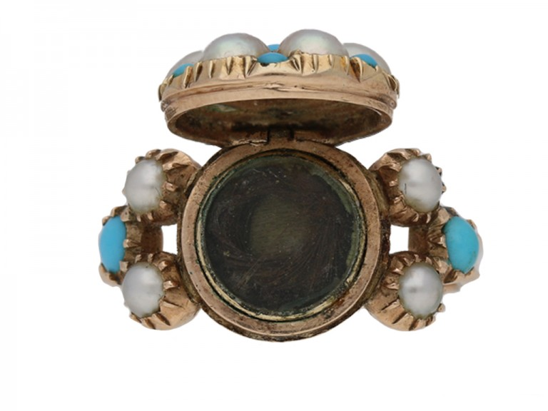 Antique pearl turquoise ring berganza hatton garden