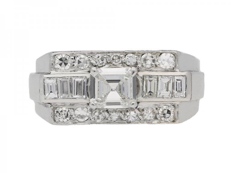 vintage Cluster diamond ring berganza hatton garden