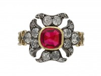 Georgian antique ruby diamond ring berganza hatton garden