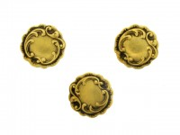 front view Art Nouveau shirt studs, French, circa 1890.