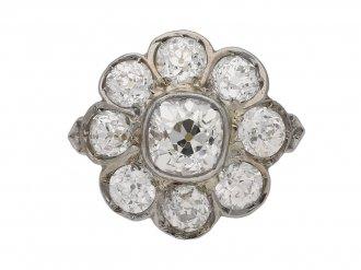 antique diamond cluster ring berganza hatton gardenantique diamond cluster ring berganza hatton garden