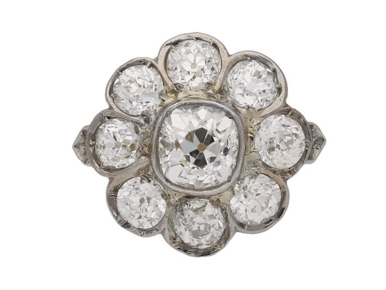 antique diamond cluster ring berganza hatton gardenantique diamond cluster ring berganza hatton garden