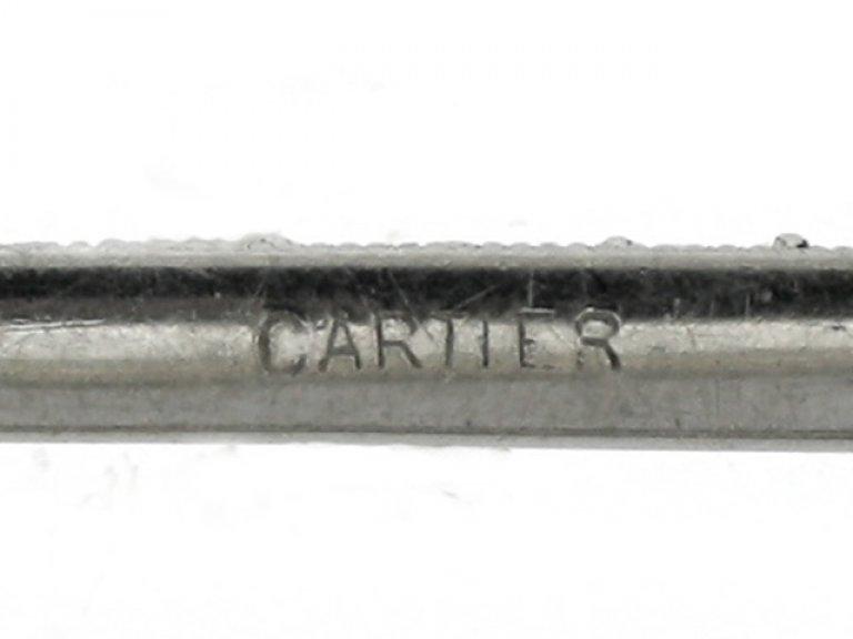 mark view Cartier rose cut diamond bar brooch, French, circa 1920.