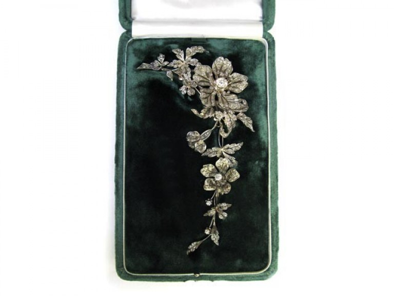 Convertible diamond corsage ornament berganza hatton garden