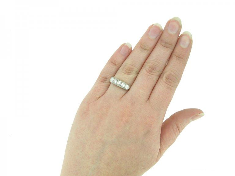 Art Deco diamond five stone ring berganza hatton garden
