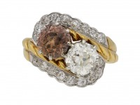 Fancy coloured diamond ring berganza hatton garden