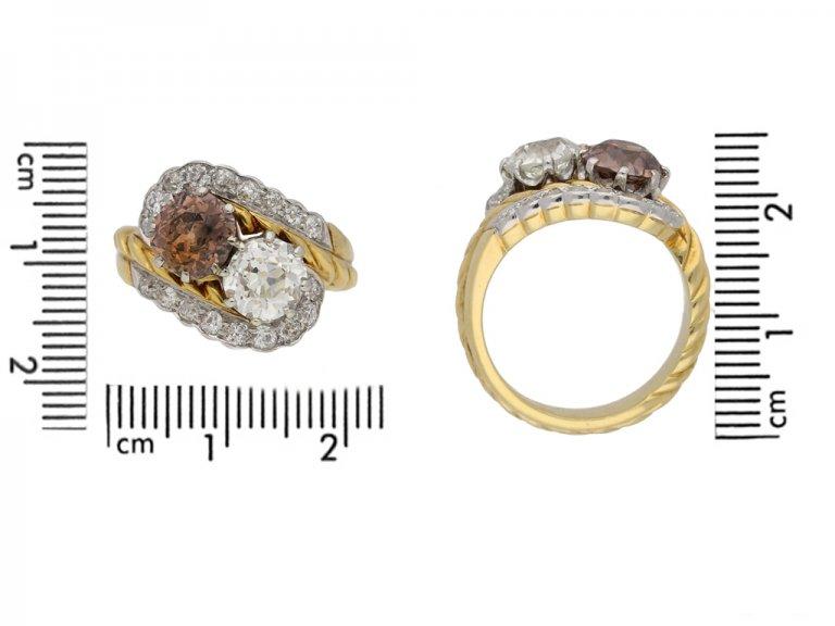 Fancy coloured diamond ring berganza hatton garden