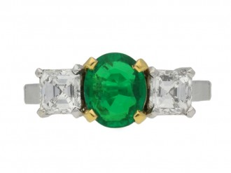 Antique emerald and diamond ring berganza hatton garden