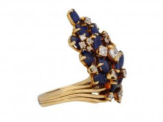 Marchak diamond sapphire ring hatton garden berganza