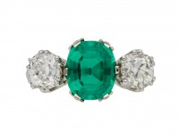 Colombian emerald diamond ring, berganza hatton garden