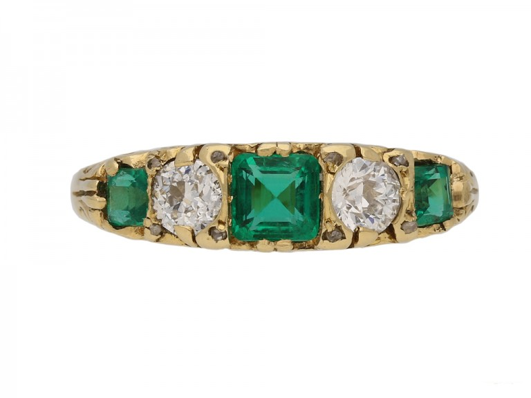 antique diamond emerald carved ring hatton garden berganza
