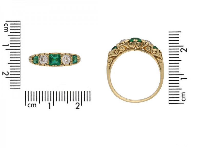 front antique diamond emerald carved ring hatton garden berganza