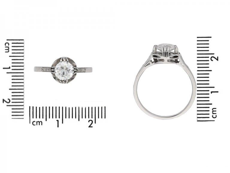 size view vintage diamond engagement ring berganza hatton garden