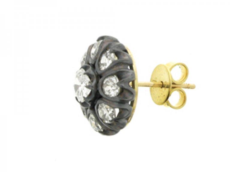 Antique diamond cluster earrings, circa 1890.