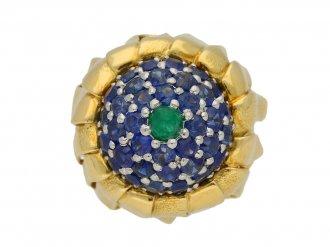 Tiffany emerald sapphire ring berganza hatton garden