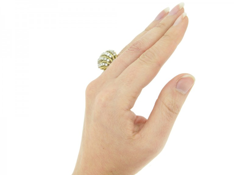 hand view Diamond cocktail ring by Van Cleef & Arpels