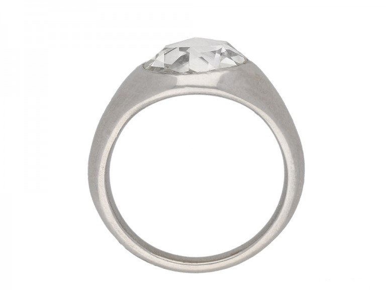 back view vintage diamond engagement ring hatton garden berganza