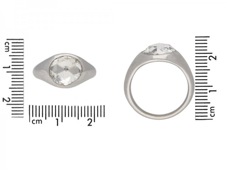 size view vintage diamond engagement ring hatton garden berganza