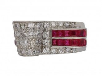 vintage ruby diamond ring berganza hatton garden