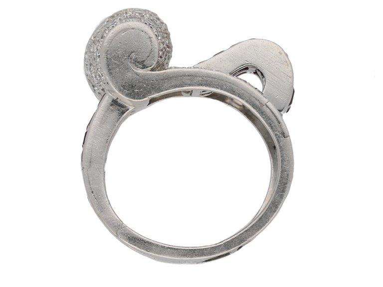vintage ruby diamond ring berganza hatton garden