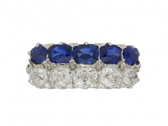 Two row sapphire diamond ring berganza hatton garden