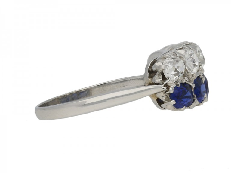Vantique Two row sapphire diamond ring berganza hatton garden