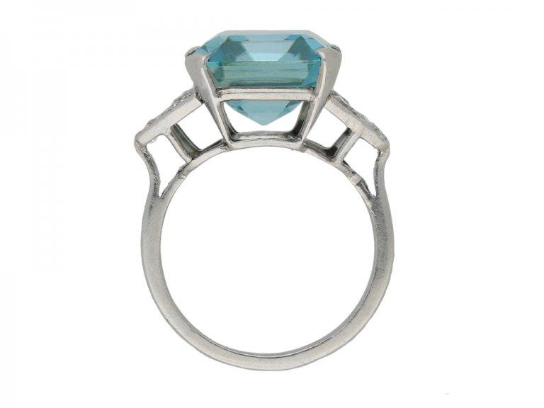 Art Deco zircon diamond ring berganza hatton garden