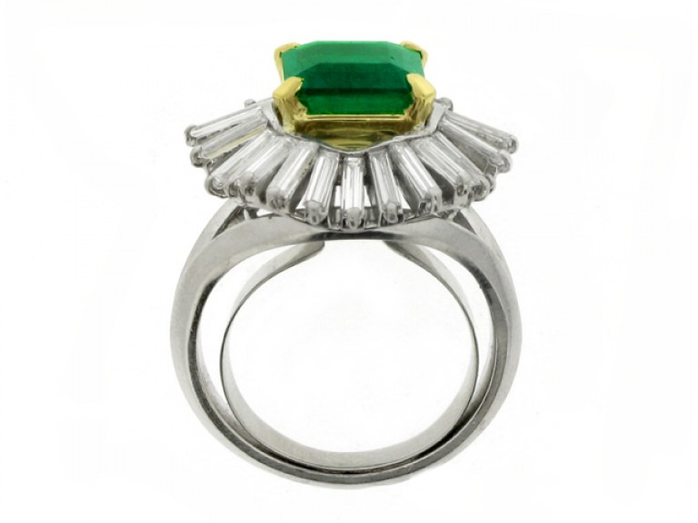 back view boucheron emerald diamond ring hatton garden berganza
