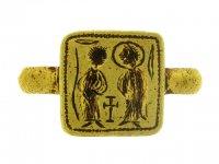 Byzantine betrothal ring circa  6th  7th century AD