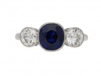 antique sapphire diamond ring berganza hatton garden
