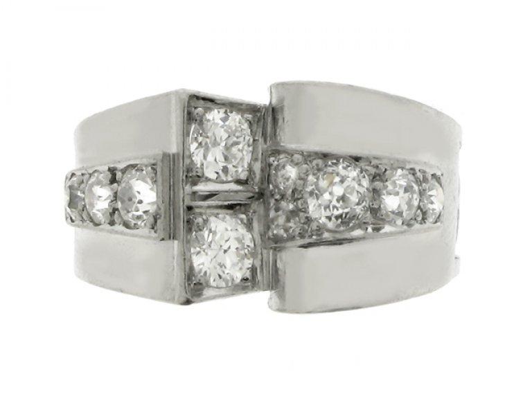 font view Diamond cocktail ring, circa 1935.