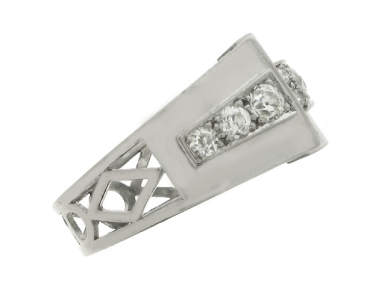 side view Diamond cocktail ring, circa 1935.