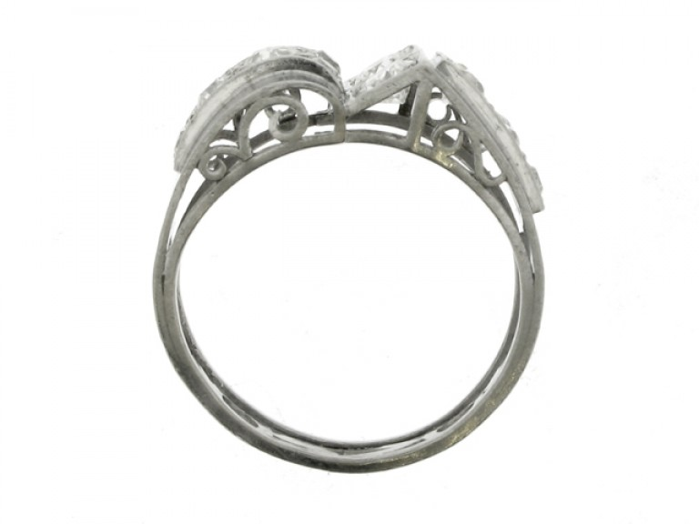 back view Diamond cocktail ring, circa 1935.