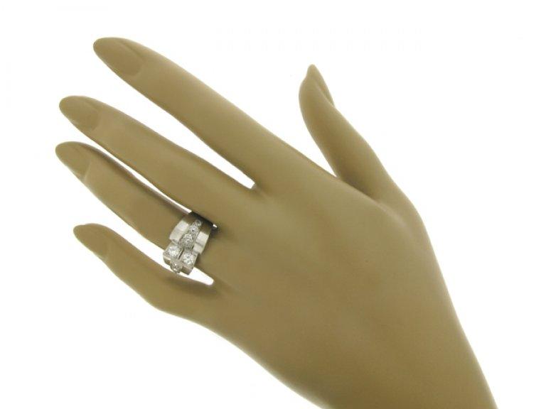 hand view Diamond cocktail ring, circa 1935.