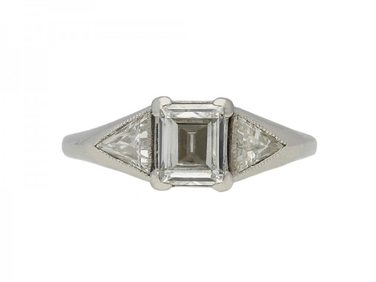 Art Deco solitaire diamond engagement ring berganza hatton garden