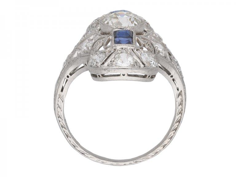 Diamond and sapphire dress ring berganza hatton garden
