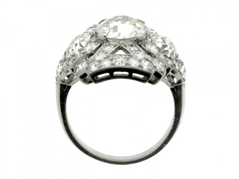 back view Ornate diamond cluster ring, circa 1920.
